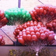 decoração com gás helio 11